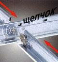Конструкция подвесной системы USG позволяет легко собрать подвесную систему