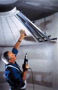 Сплошные подвесные потолки из гипсокартонных листов (KNAUF)